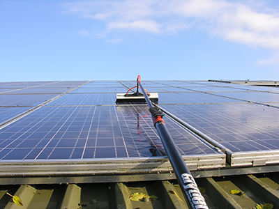 Solar panel cleaning in Essex