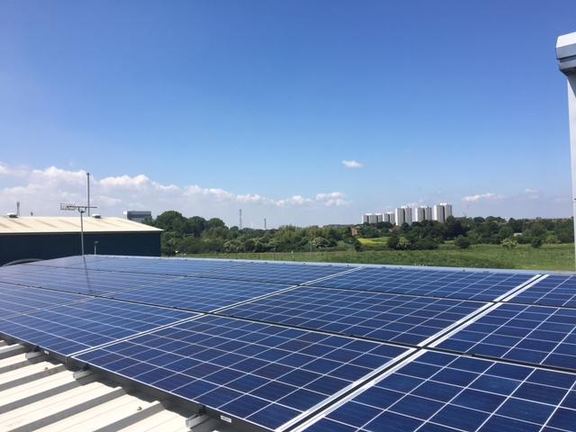 Commercial solar panel install in Tilbury Essex