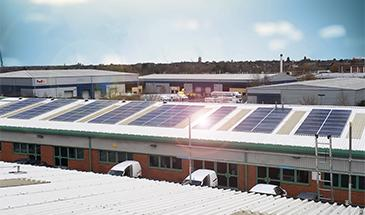 green energy electrical commercial solar install